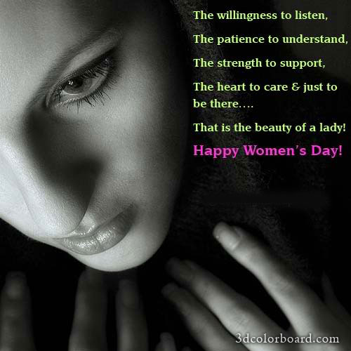Wishes with Women's Day Graphics, Women's Day Greetings, Women's Day Images, Women's Day Photos and Pictures for Orkut, Facebook, other Social Network Websites.